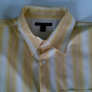 Awesome Banana Republic mens stripe shirt XL